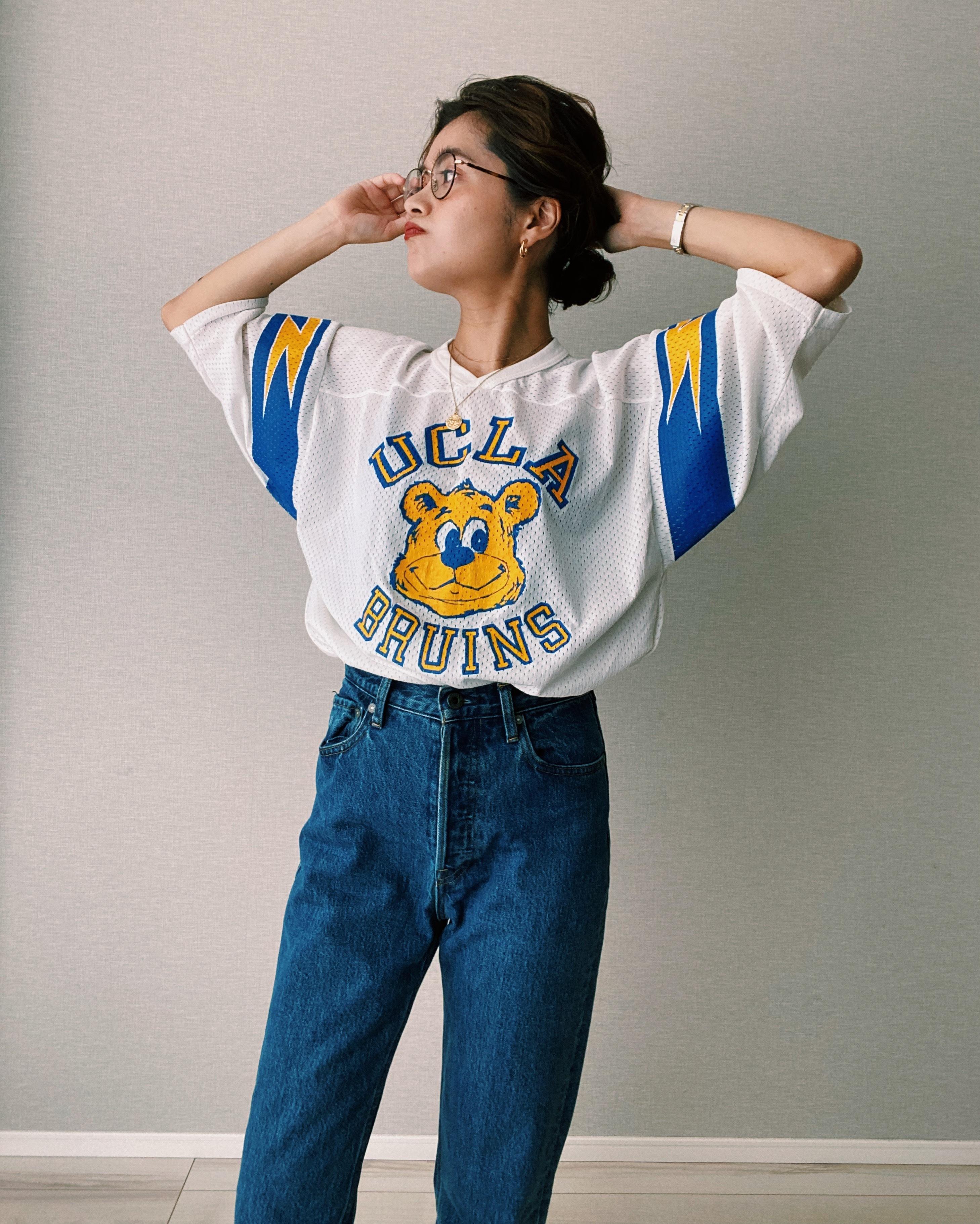 (CS402)UCLA mesh football T-shirt