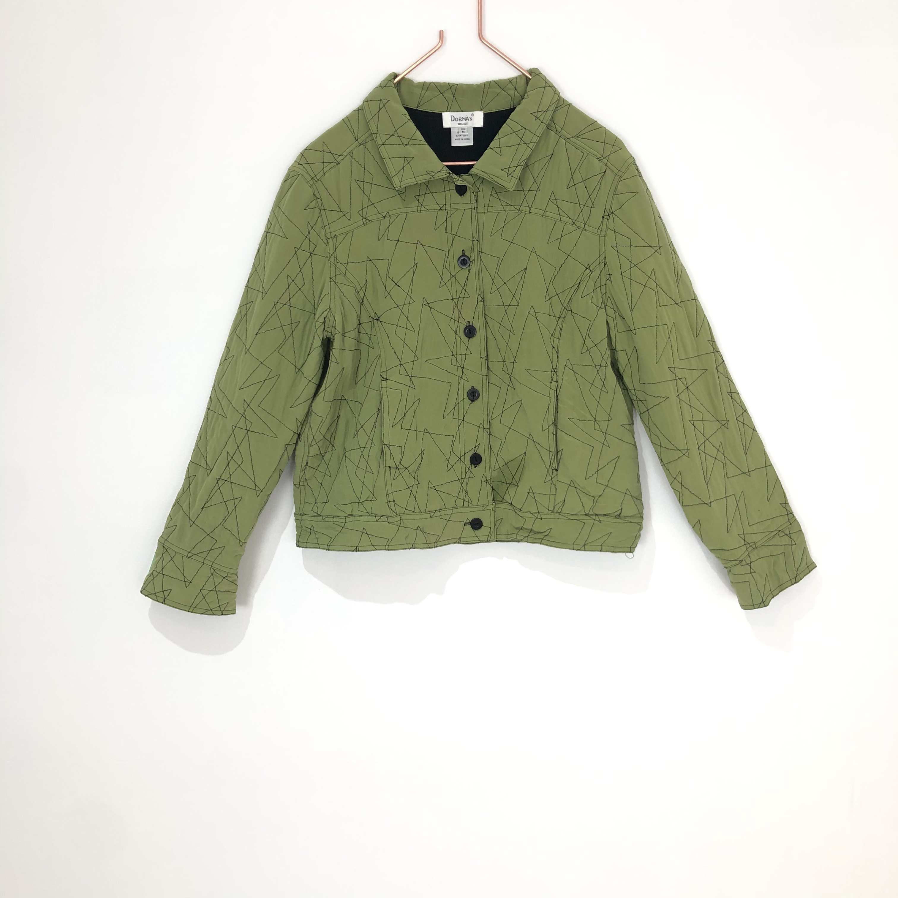 ◼︎90s random stitch silk jacket from U.S.A.◼︎