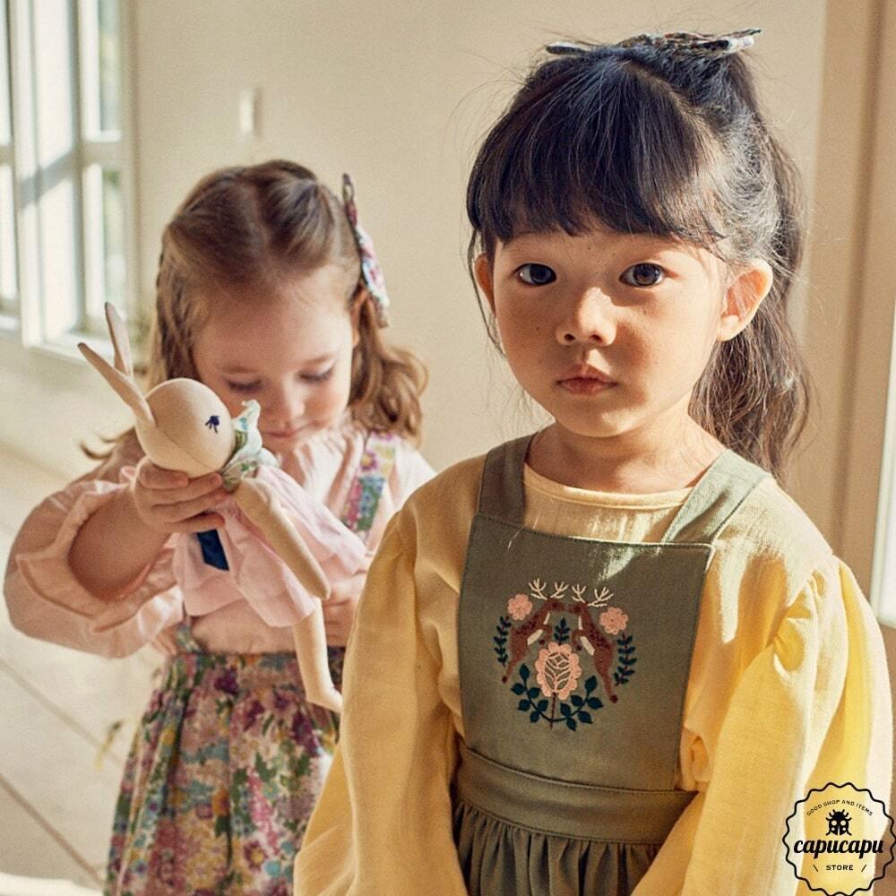 «即納»«pour enfant» シャーロットパフブラウス Charlotte puff blouse