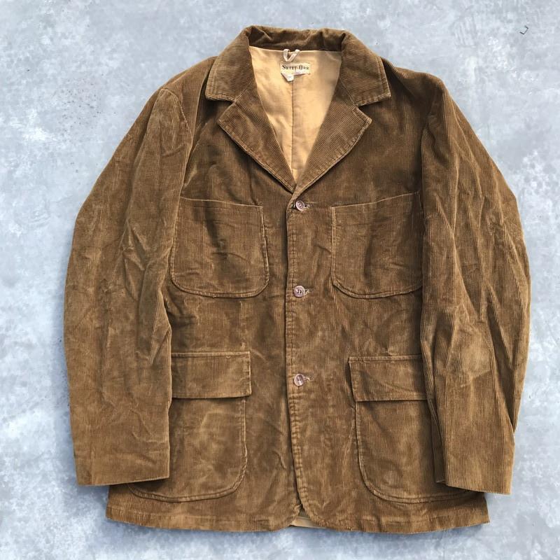 50's 60's SWEET ORR コーデュロイジャケット ブラウン サファリ ノーフォーク ワーク 40 L 希少 ヴィンテージ