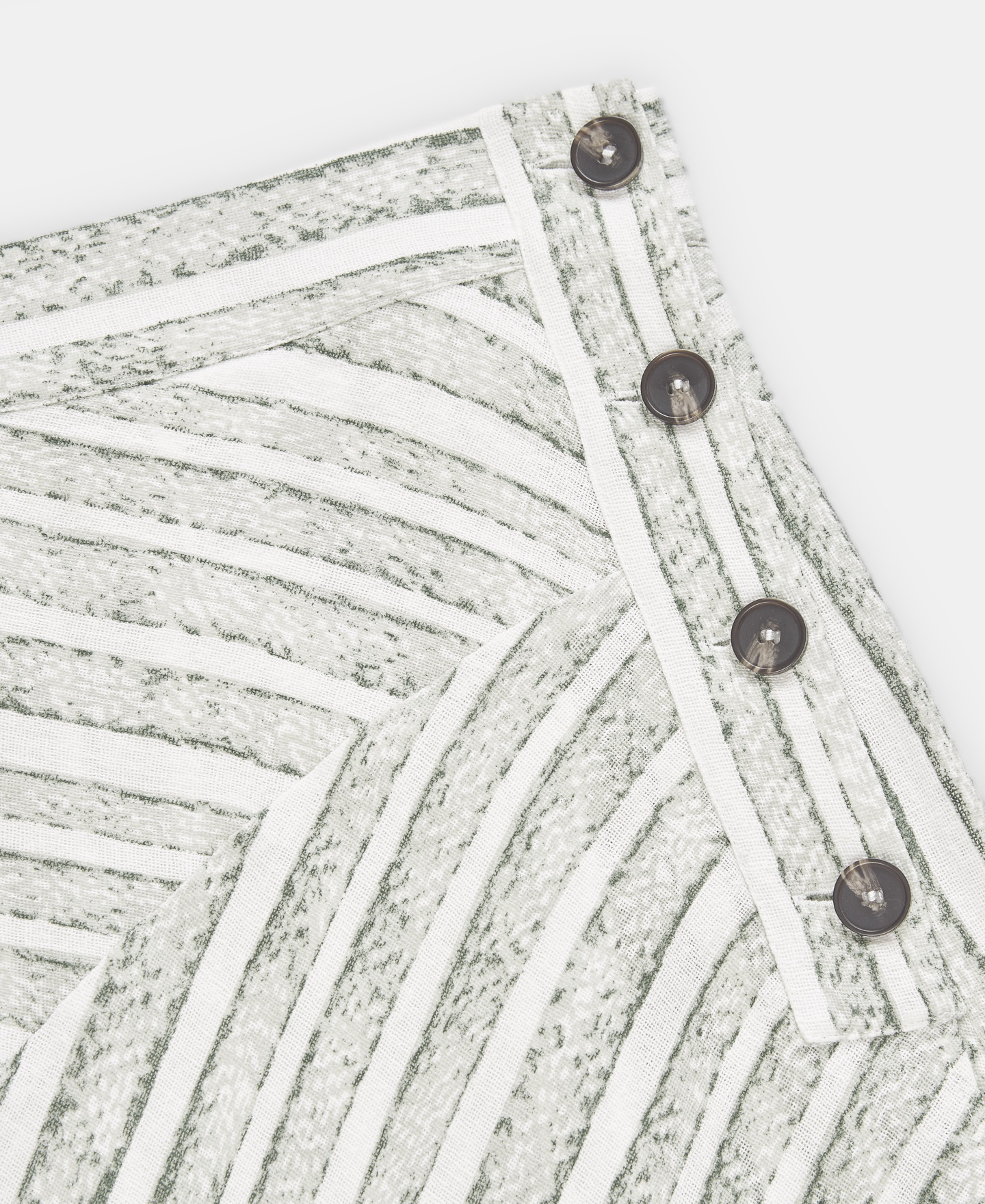 LINEN AND COTTON STRIPED SKIRT [241041682111]