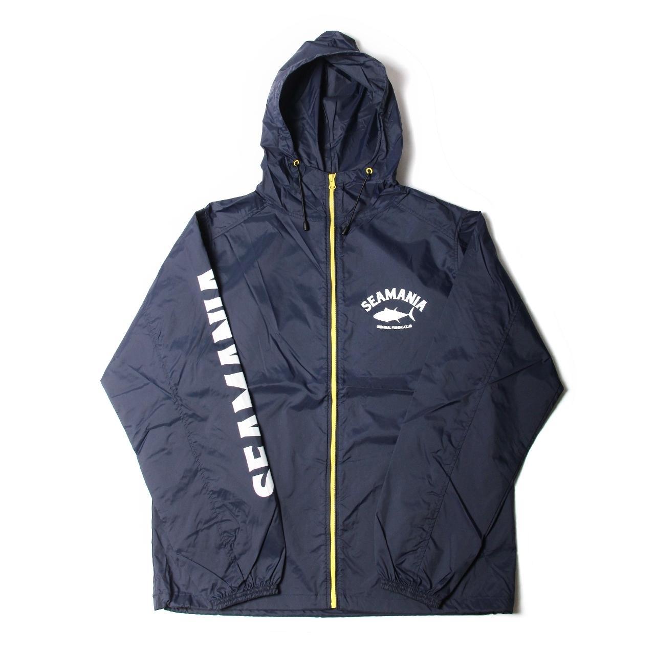 【Seamania】アーチロゴナイロンZIPジャケット [NVY]