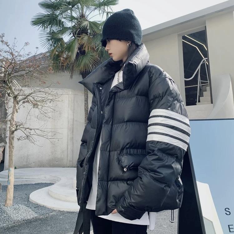 border sleeve down jacket