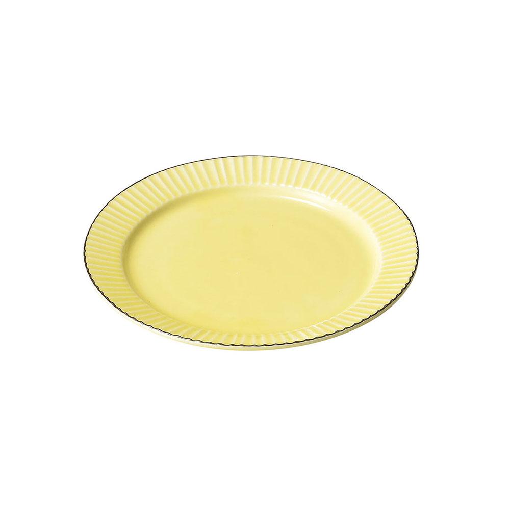 「ティント Tint」プレート 皿 M 約17cm イエロー 美濃焼 289008