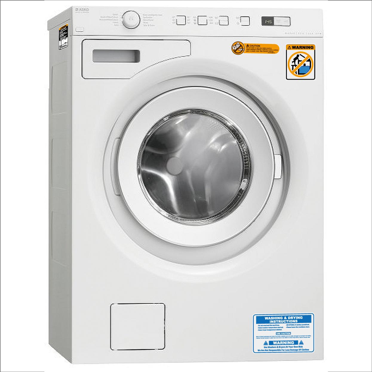 アメリカ製に変身!国産洗濯機用ステッカー!