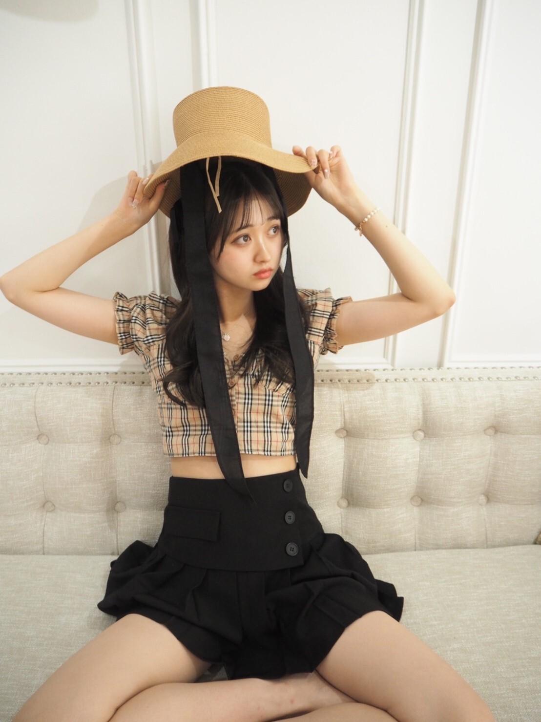 【Renonqle】tartan check blouse