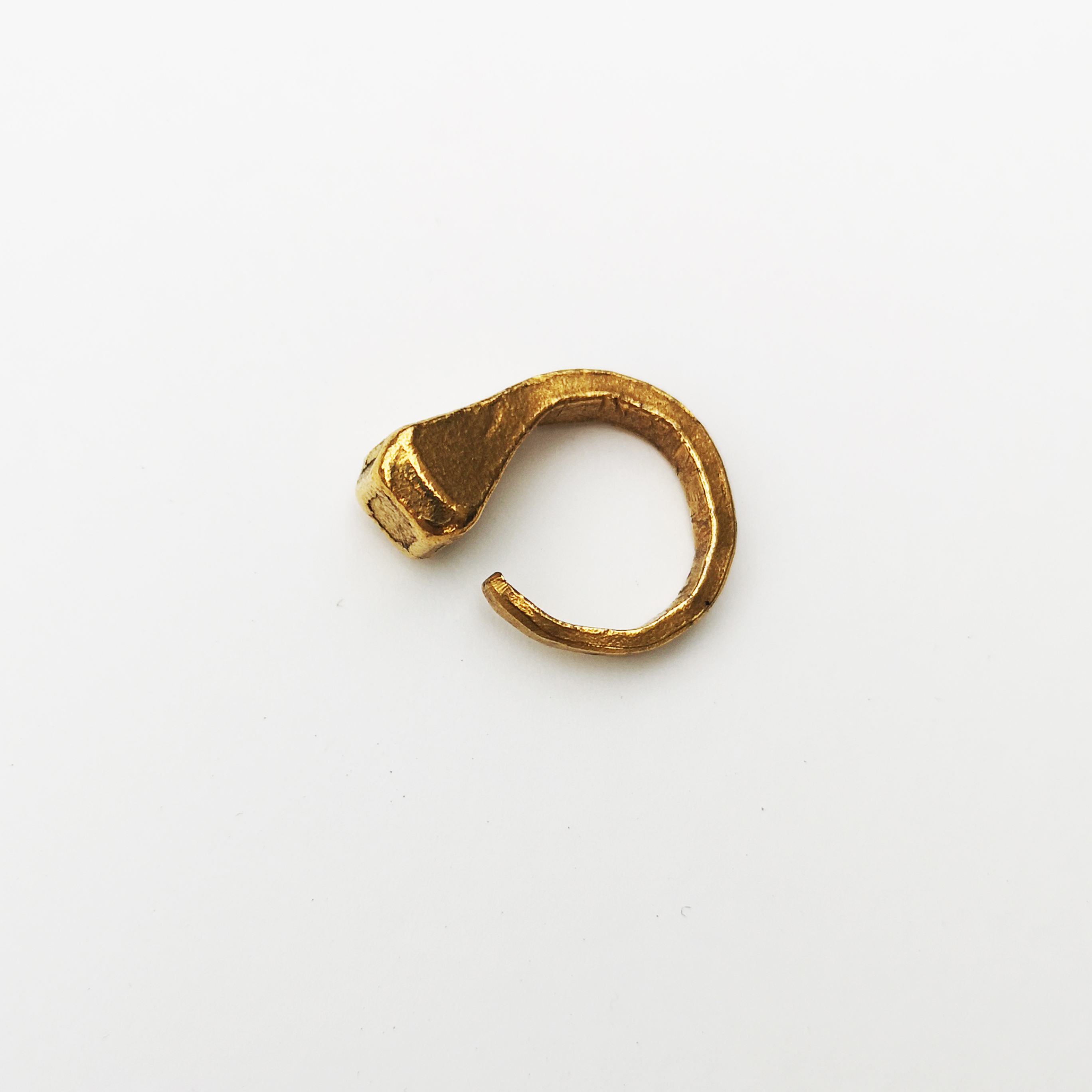 HORSE NAIL RING / 925 Sterling Silver plated in 23K Gold