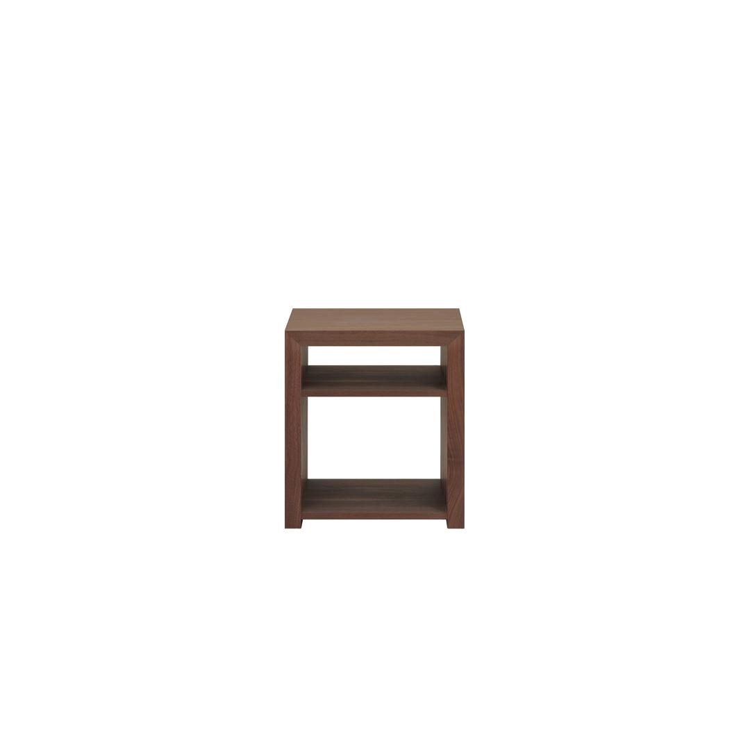 リニエ サイドテーブル 400 ウォールナット[リアルスタイル]