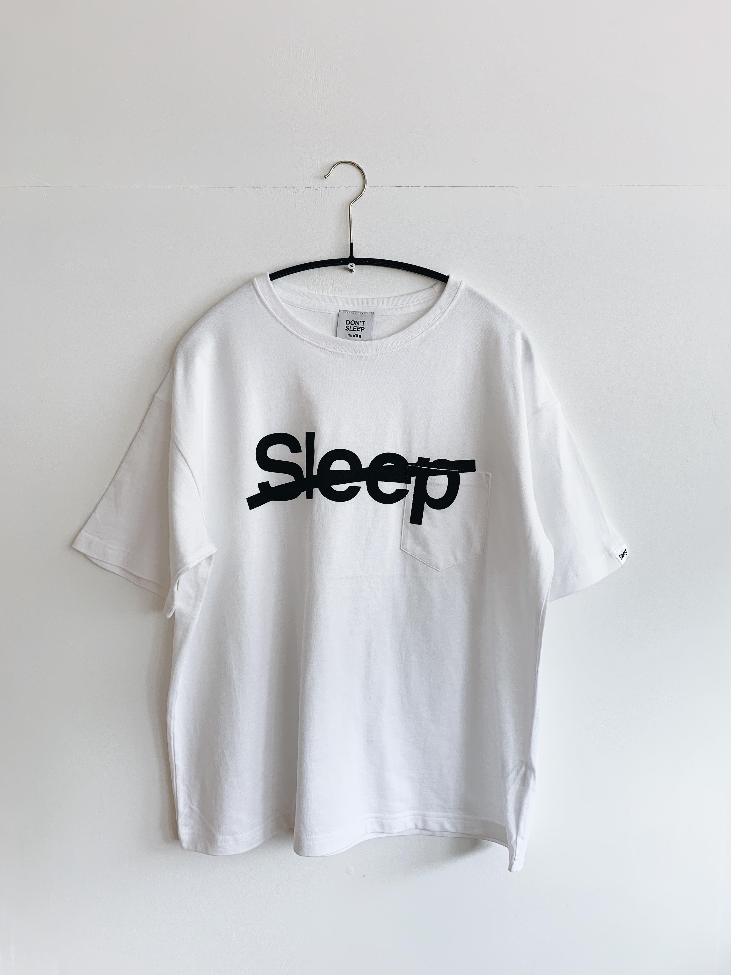 【DON'T SLEEP(ドントスリープ)】 ショートスリーブ オーバーサイズ ポケットTシャツ SLEEP SLASH