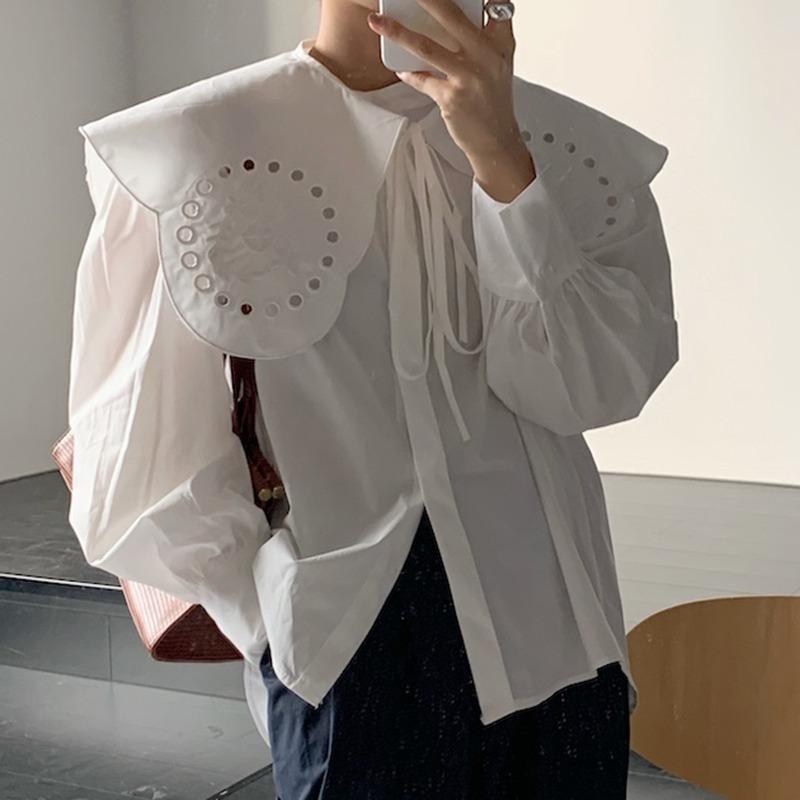 ビッグ襟スリーブシャツ