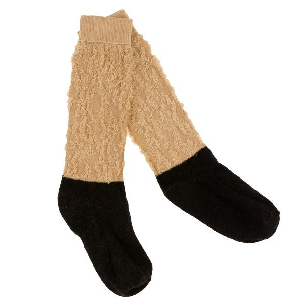 Tinycottons Block hight socks(Be×Bk)