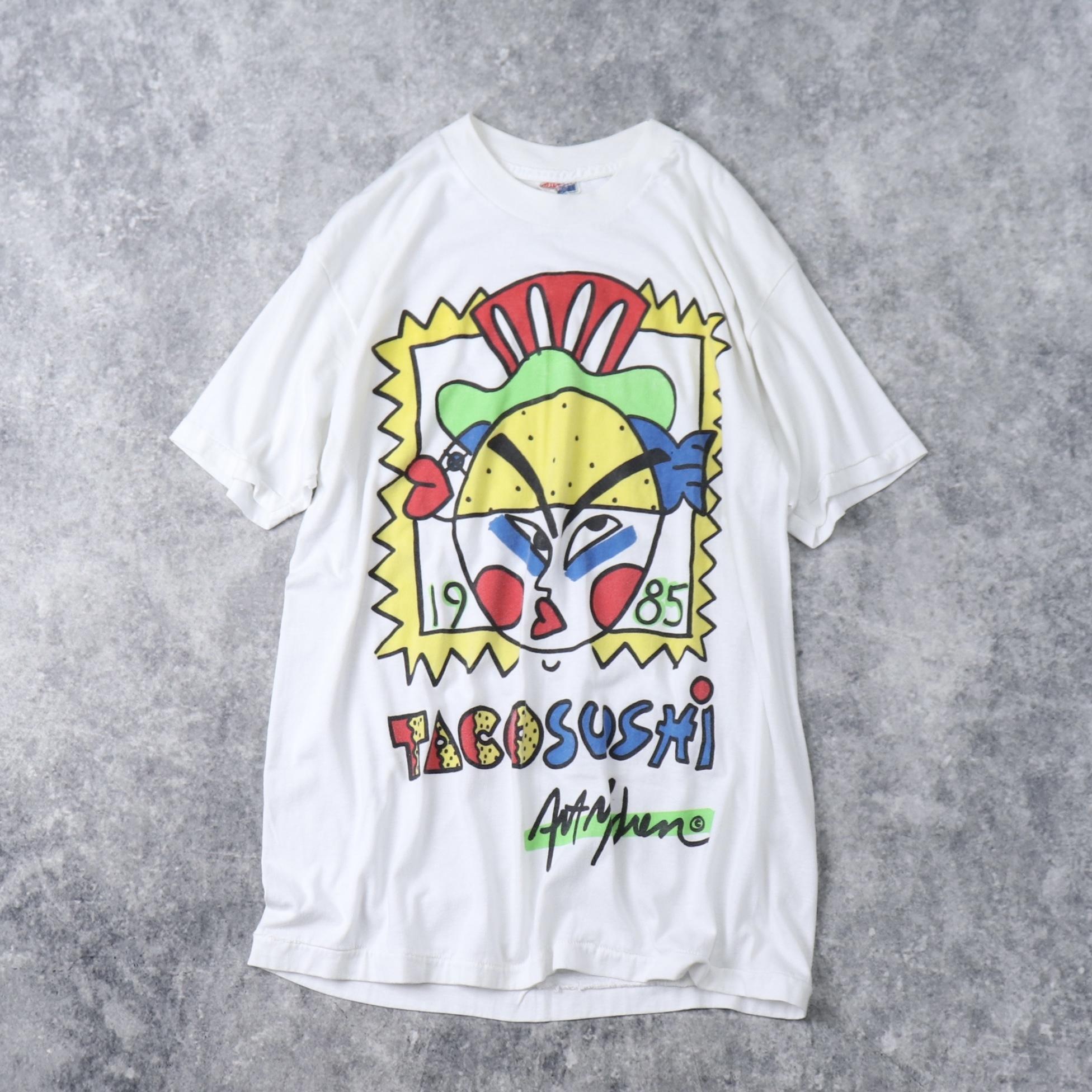 80年代 USA製 Tシャツ TACO SUSHI XL A26