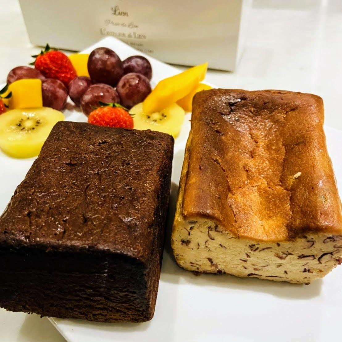 (店舗受け取り予約)ハーフサイズ詰め合わせ「北海道小豆のチーズケーキ」「テリーヌドゥショコラ」