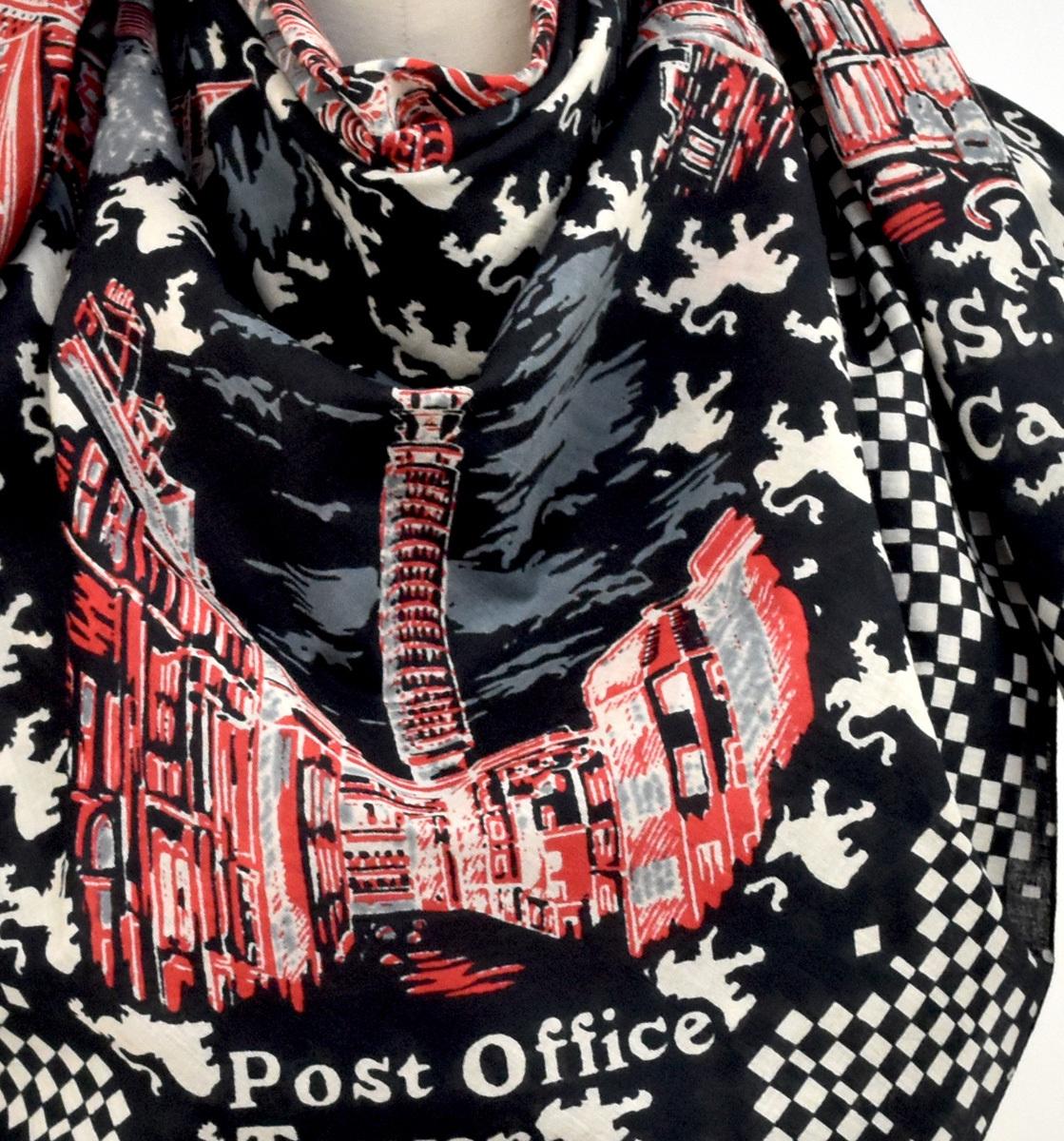 ロンドン・スカーフ・ブラック
