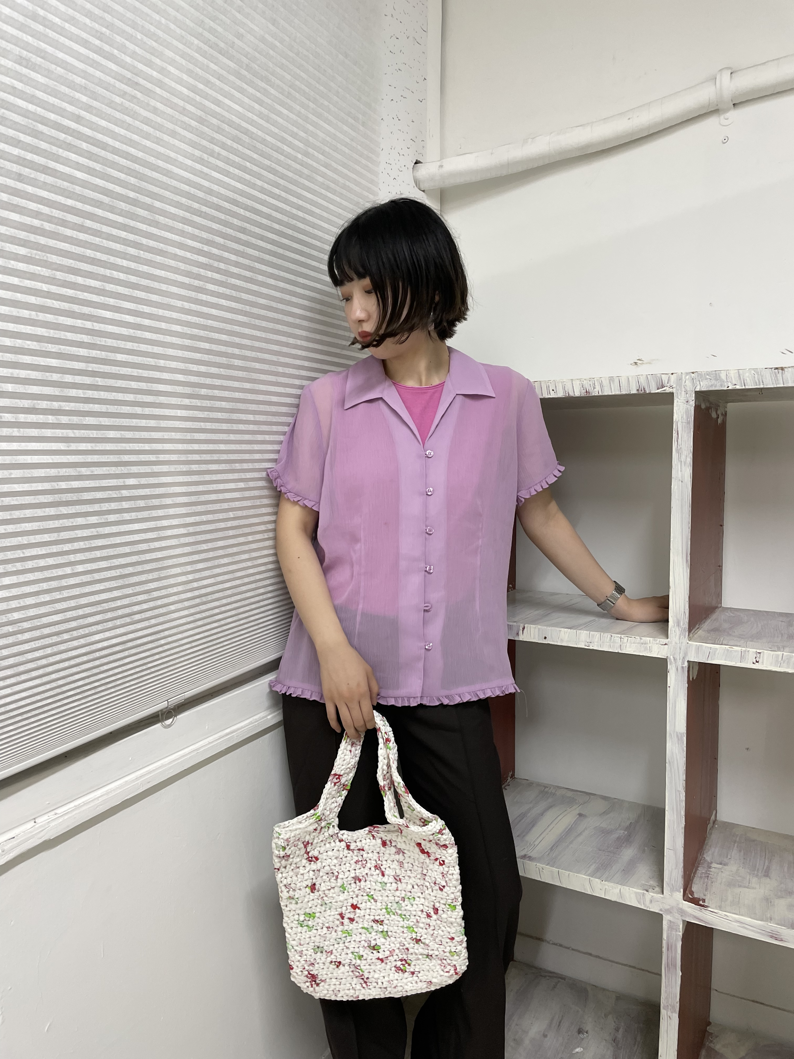 frill blouse / 7SSTP16-12