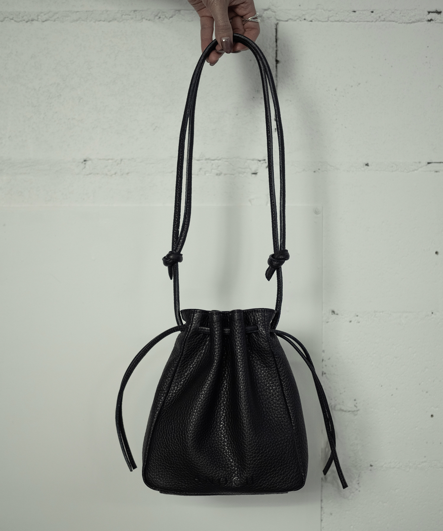 RETHINK LEATHER BAG (BLACK)