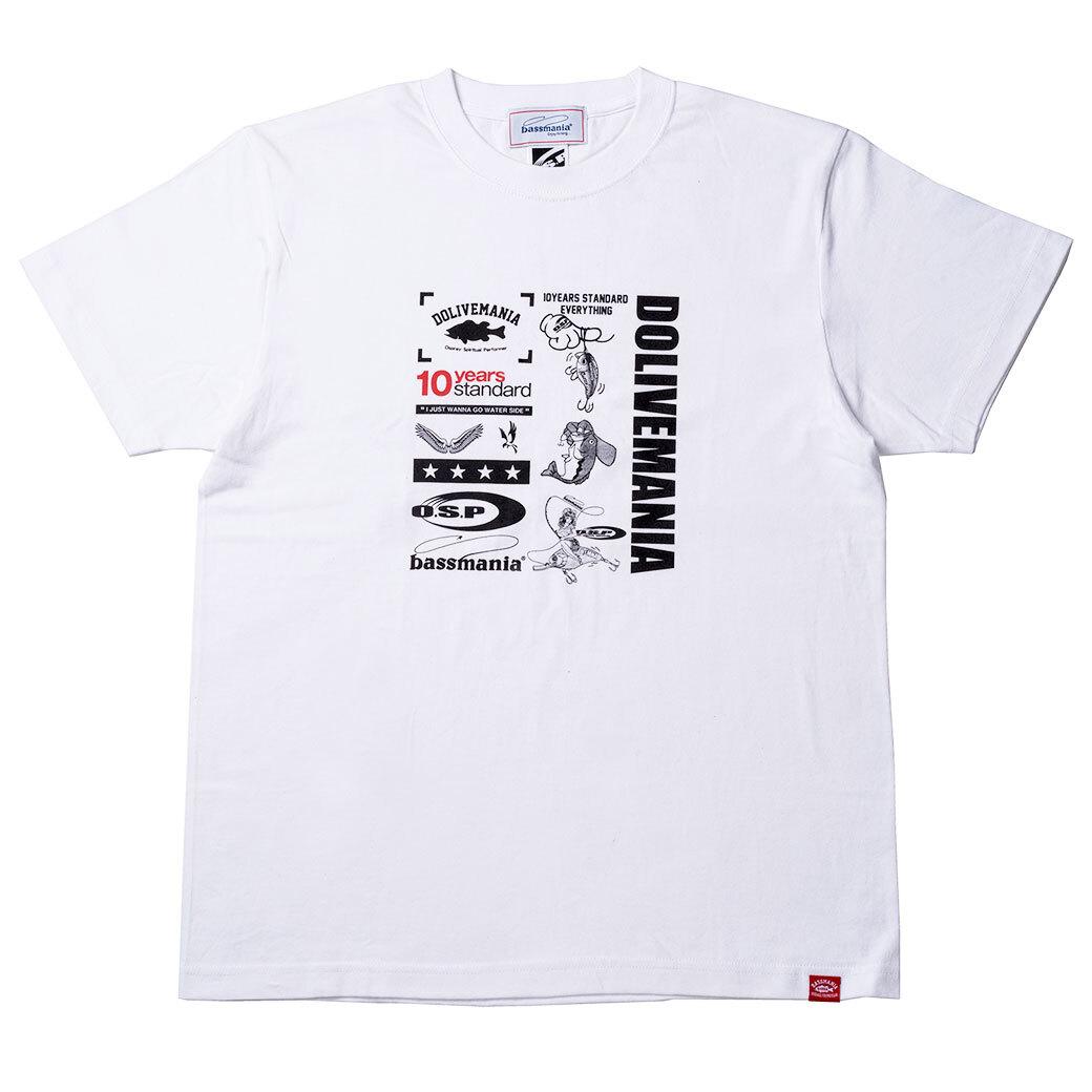 【O.S.P×bassmania】  ミックスデザインTシャツ [ ホワイト ]【限定受注販売】【7月上旬配送】