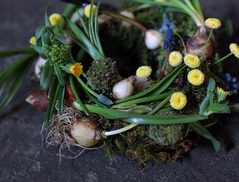 Bullbs Flower Wreath(球根のリース)