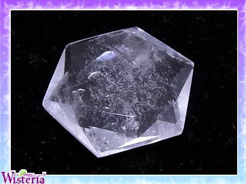 水晶 六芒星(hexagram) 直径42mm×厚み11mm