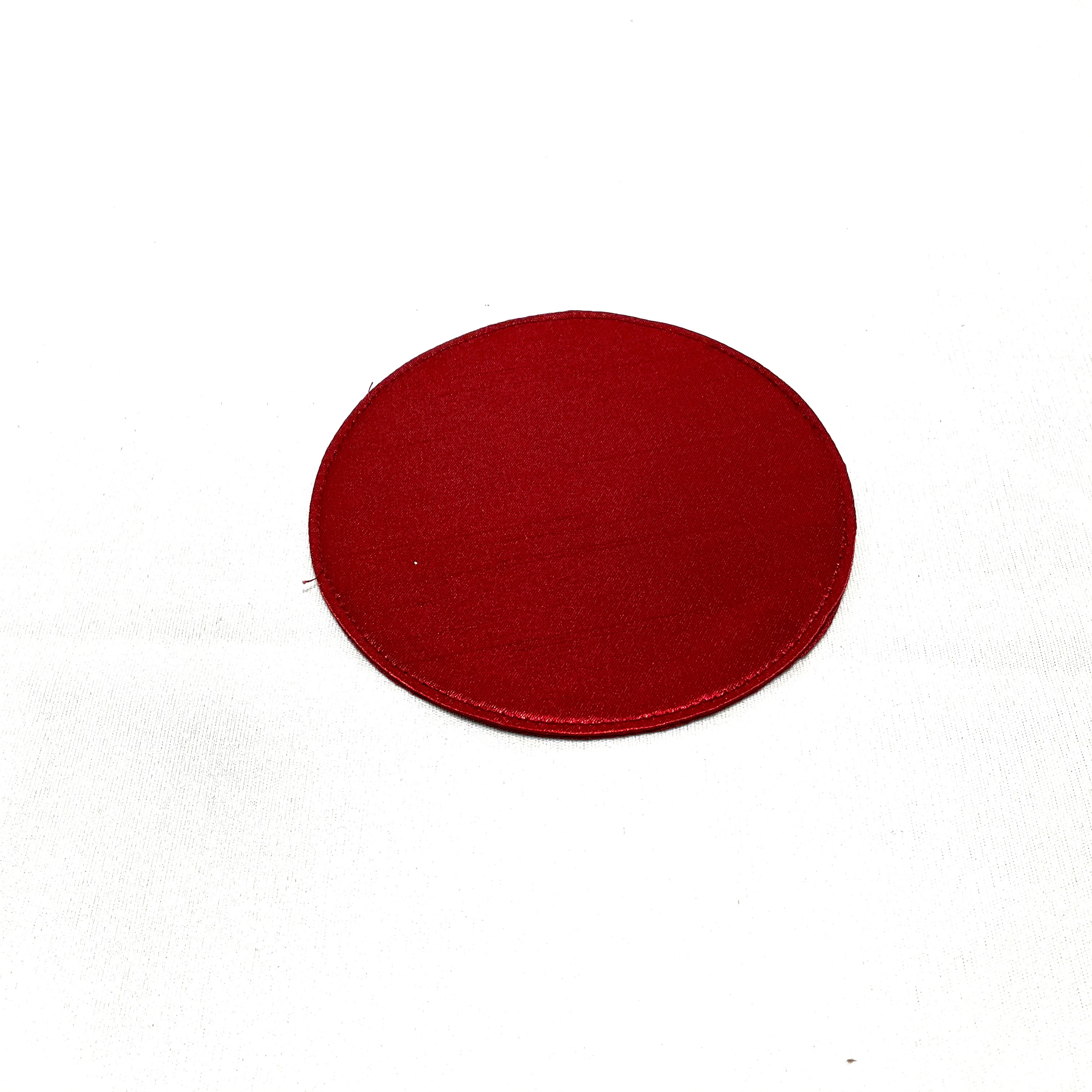【ワーキングオフィス】布コースター・サークル(レッド・ゴールド・シルバー)IKI1461