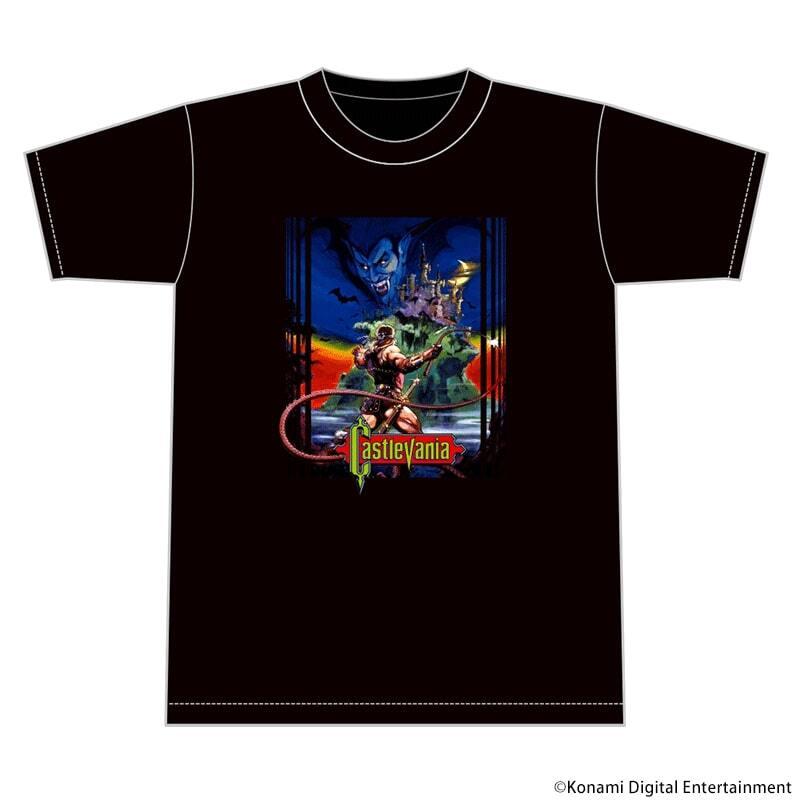 """悪魔城ドラキュラ """"Vampire Killer"""" Tシャツ ブラック"""