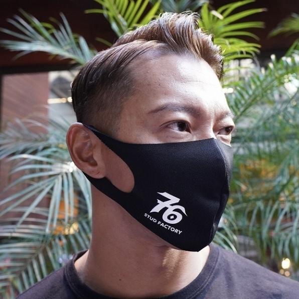 No,76 logo dry fit mask (BLACK)