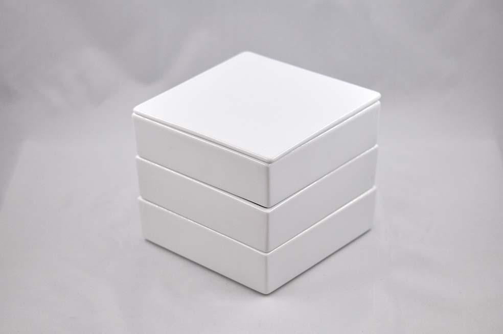 白磁のお重 大 3段