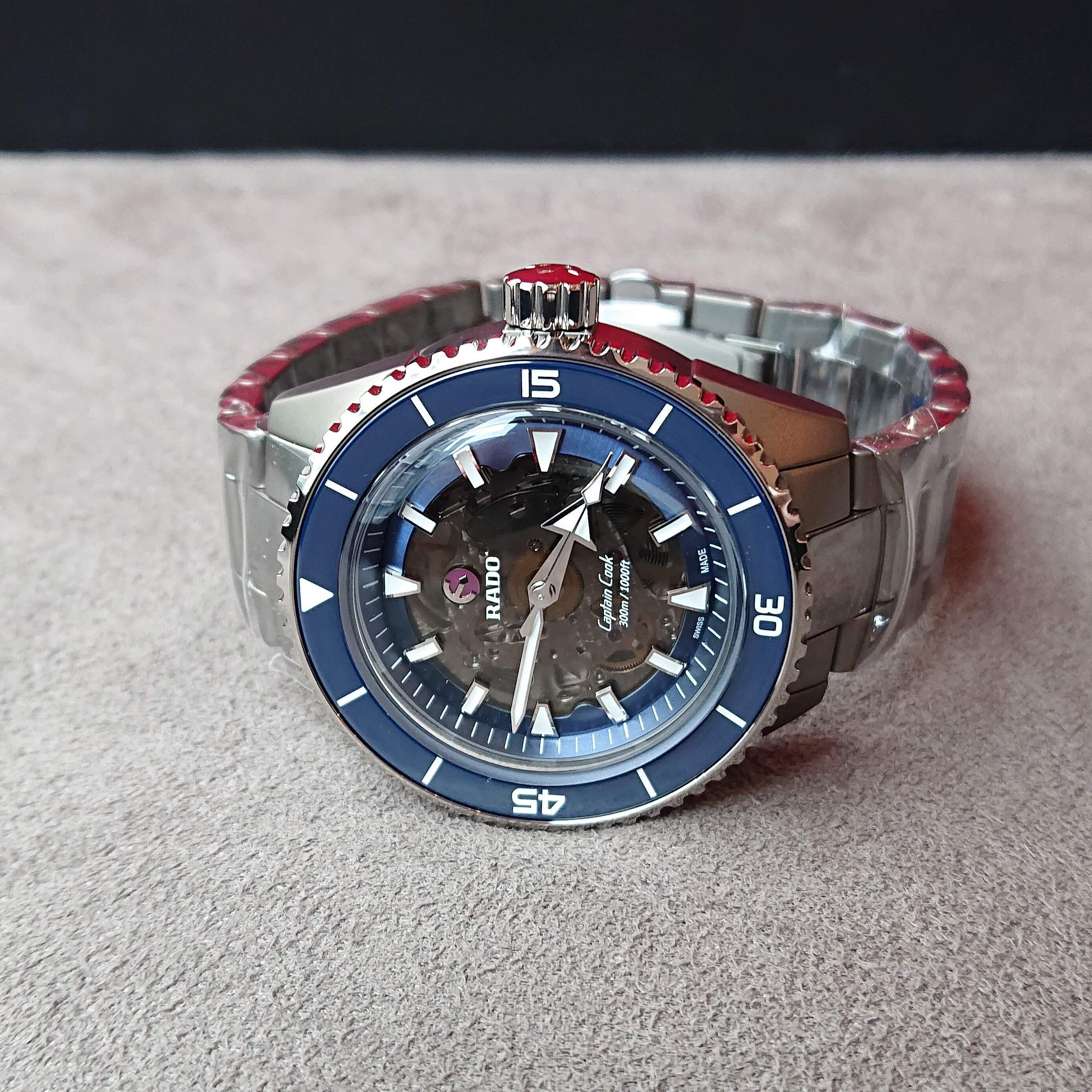 【RADO ラドー】Captain Cook High-Tech Ceramic キャプテンクック ハイテクセラミック(プラズマ×ブルー)/国内正規品 腕時計