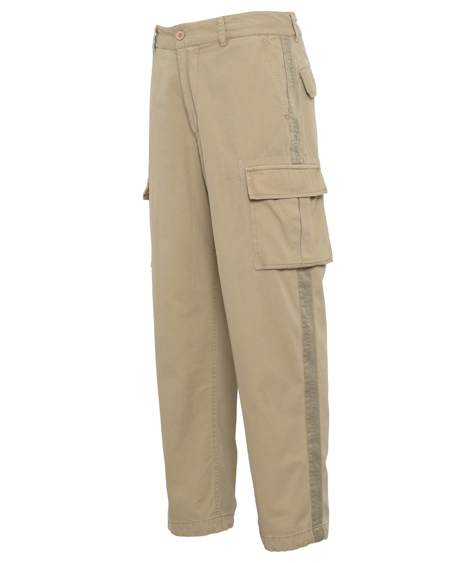 LINE TAPE VINTAGE WIDE CARGO PANTS[REP111]