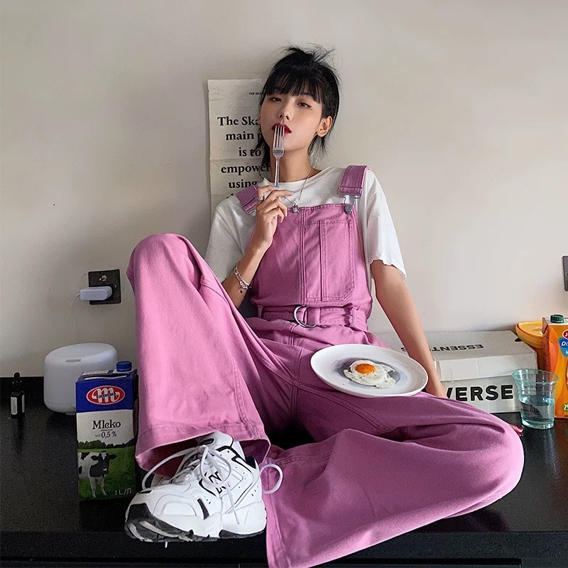 pink loose overall