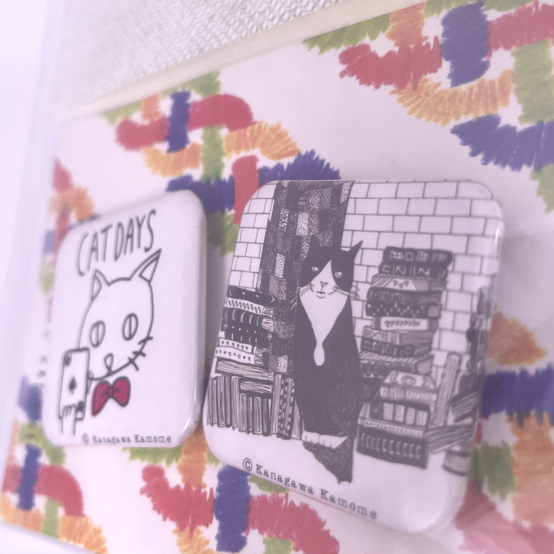 【Kamome】缶バッジセット スクウェア