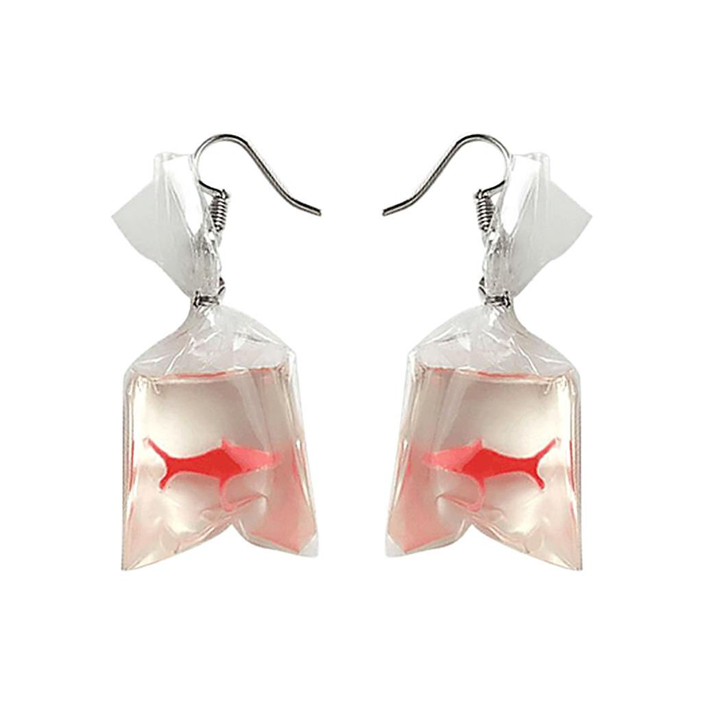 IUHA 【ユニークシリーズ】金魚すくいモチーフピアス キュート パーティー ギフト  iuha1991710013