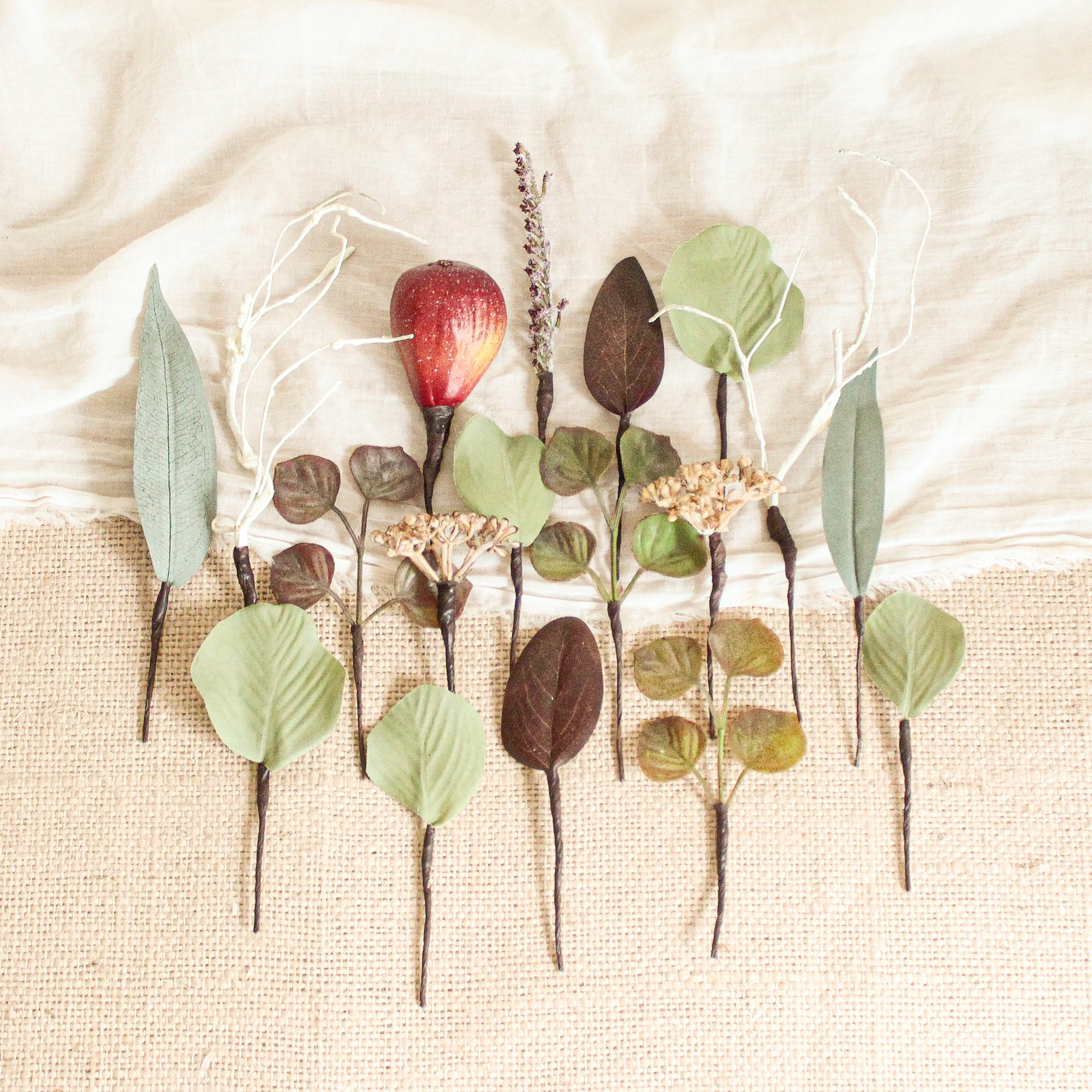 Hair parts for Fig tree Bouquet