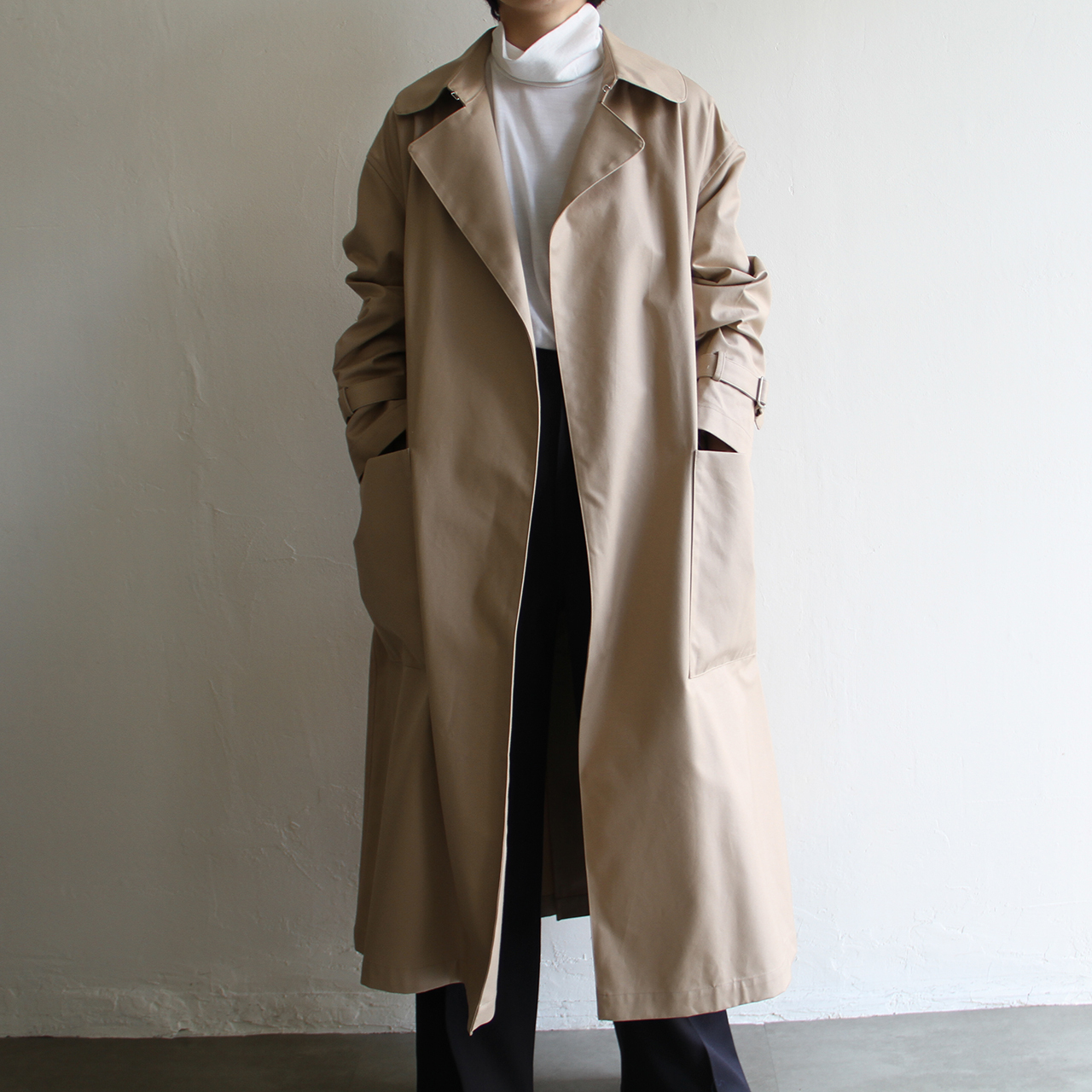 TENNE HANDCRAFTED MODERN【 womens 】ventile big size trench coat