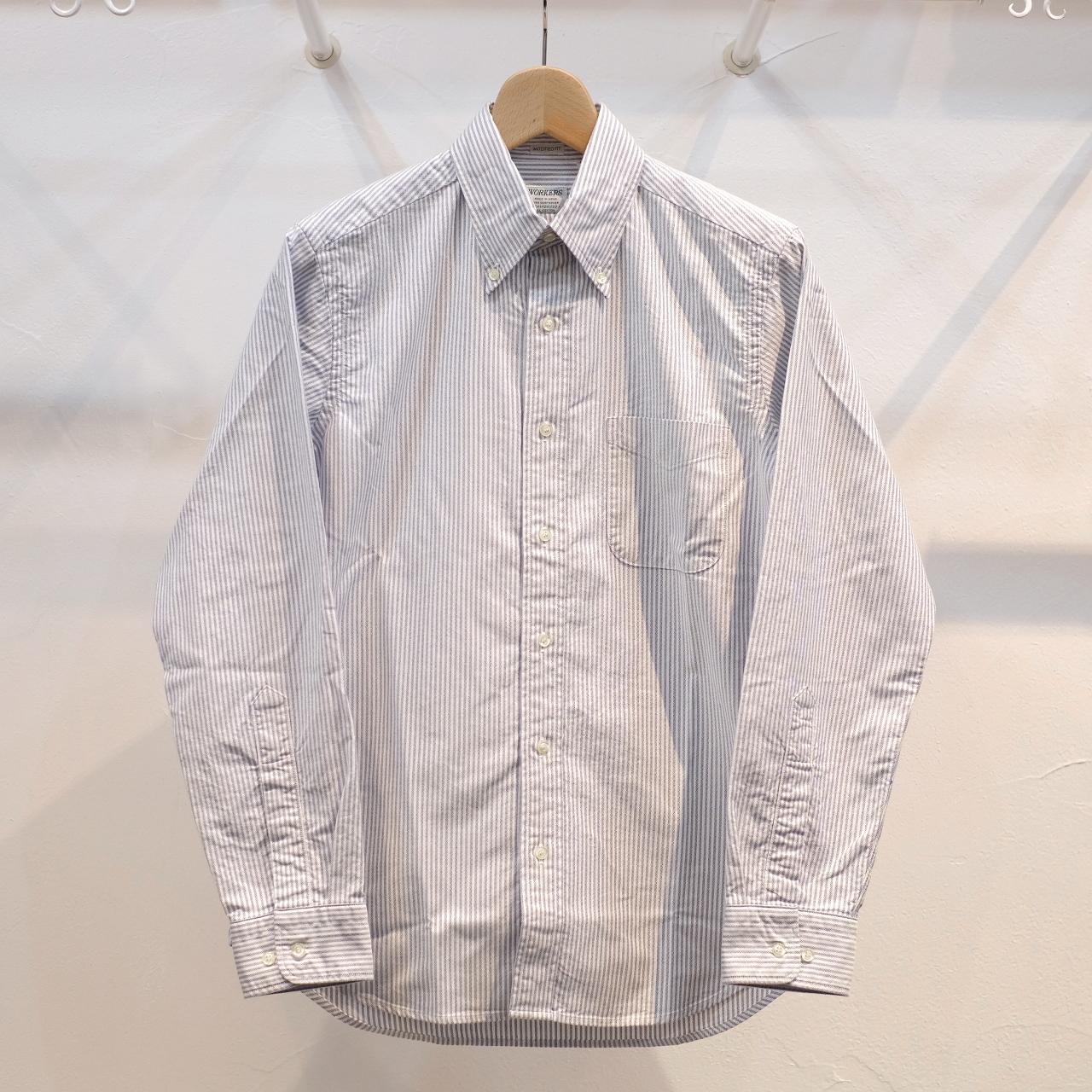 Workers(ワーカーズ) スーピマオックスボタンダウンシャツ ブルーストライプ