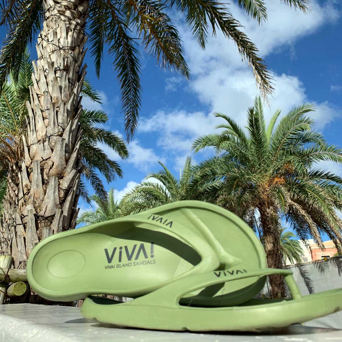 VIVA! ISLAND ビバアイランド FLIP FLOP ビーチサンダル(カーキ V-810104_KHA)