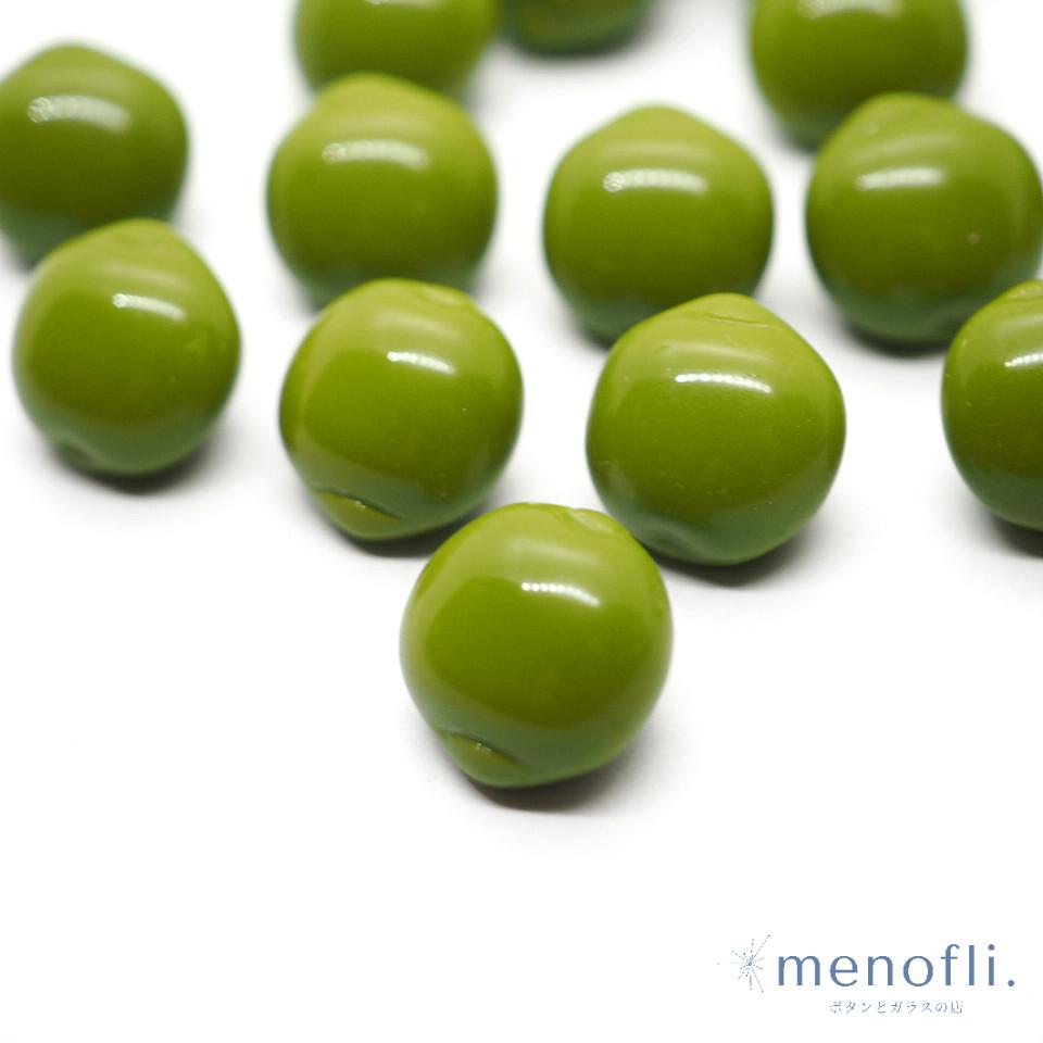 緑 フルーツ・野菜デザイン ヴィンテージボタン チェコガラスボタン BP0707 20201203