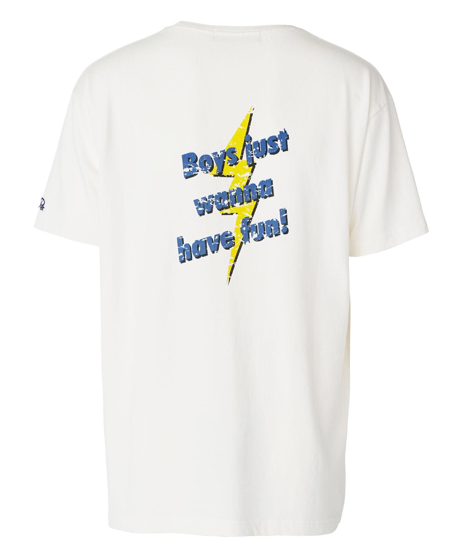 VINTAGE MESSAGE PRINT BIG T-shirt[REC506]