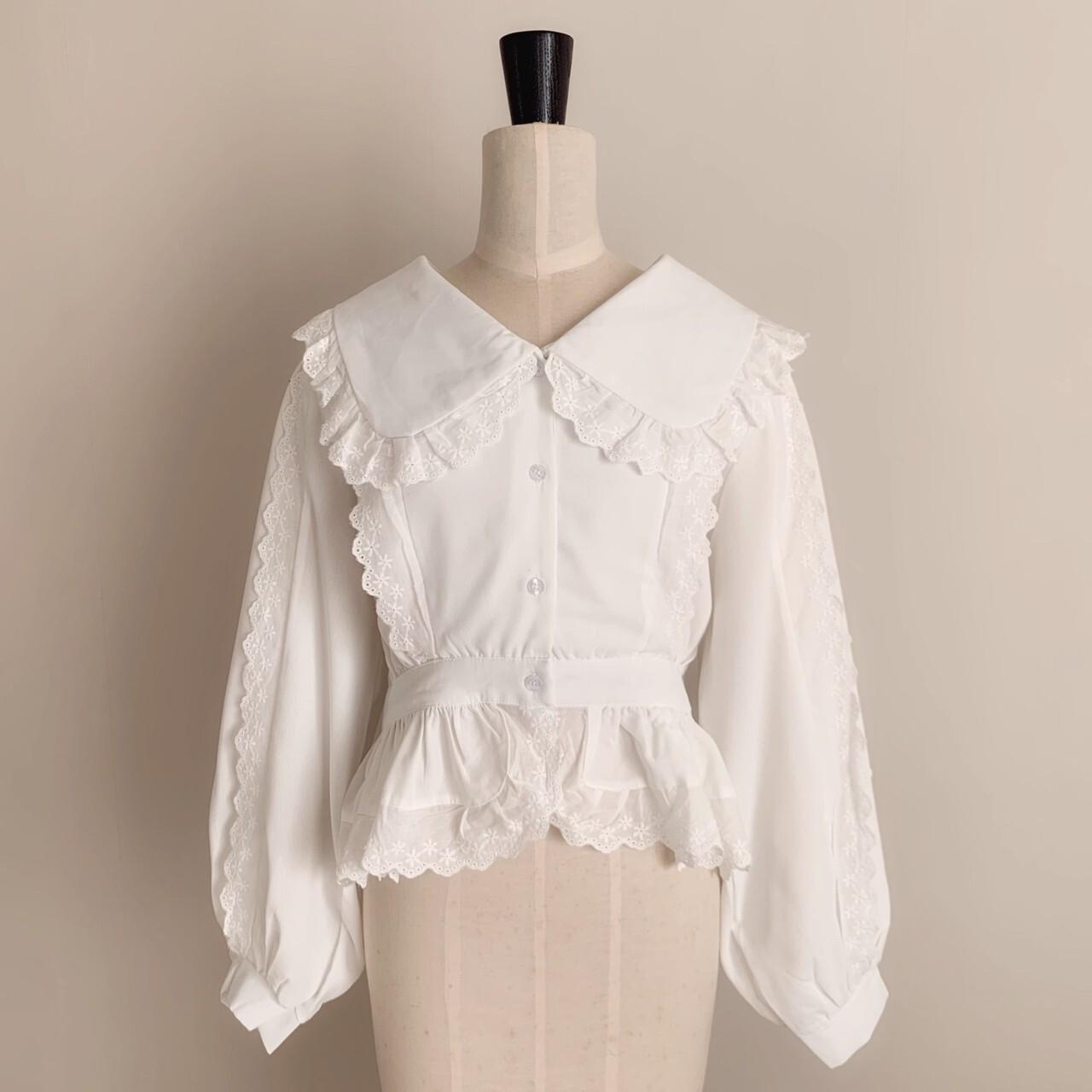 【meltie】frill collar blouse