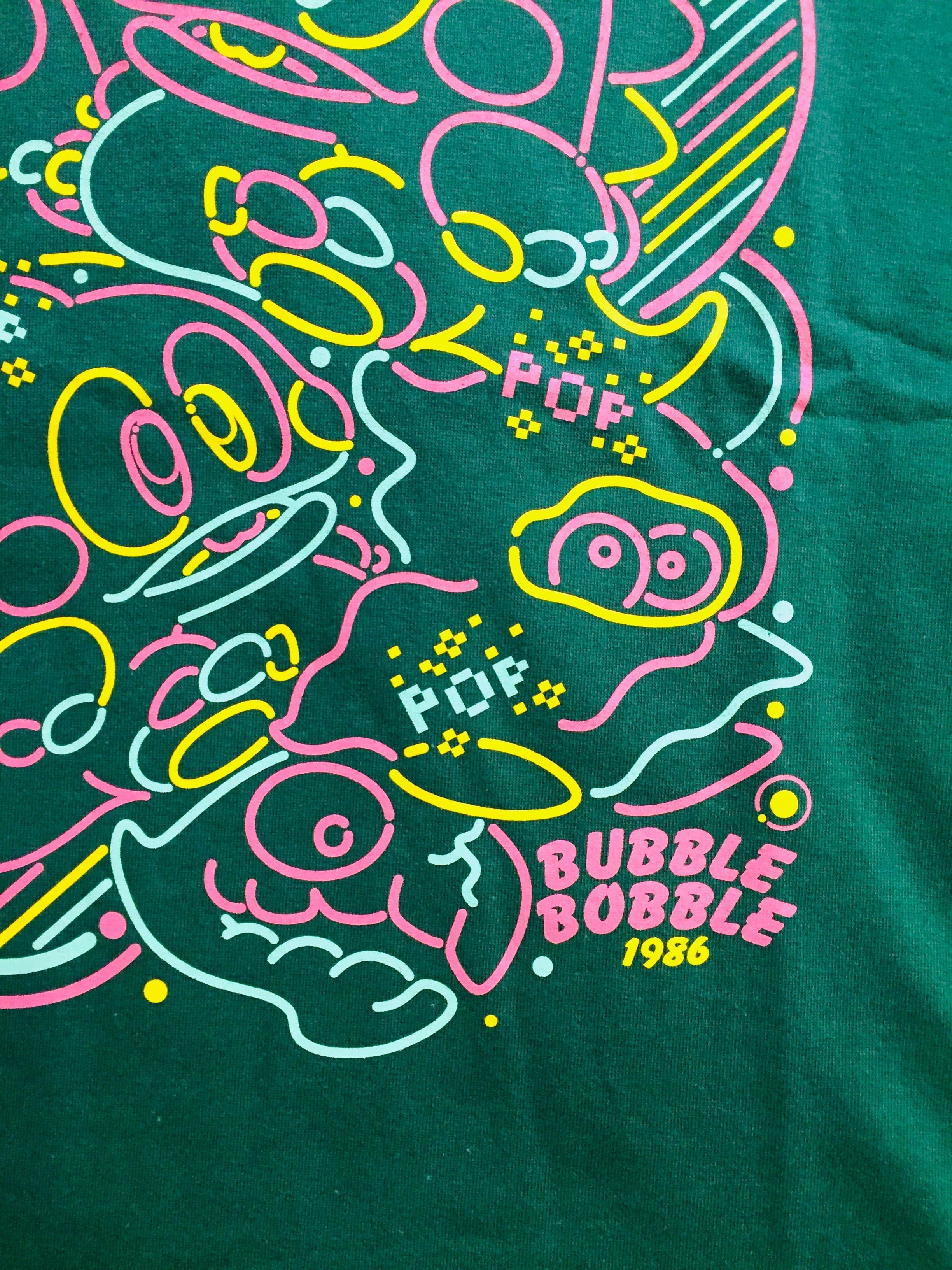 バブルボブル プリントTシャツ ( グリーン ) / VIDEO GAME TOKYO