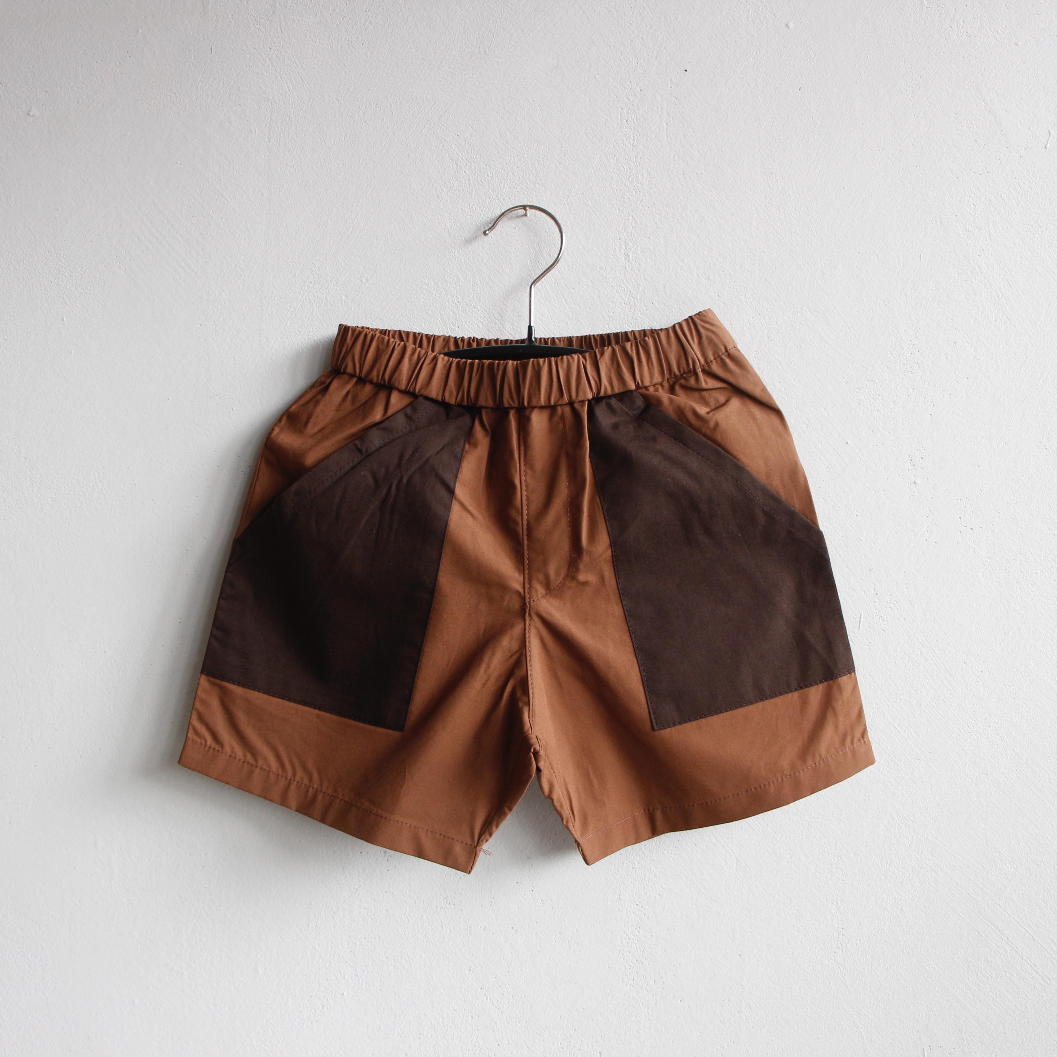 《eLfinFolk 2021SS》typwriter shorts / brown / 80-130cm