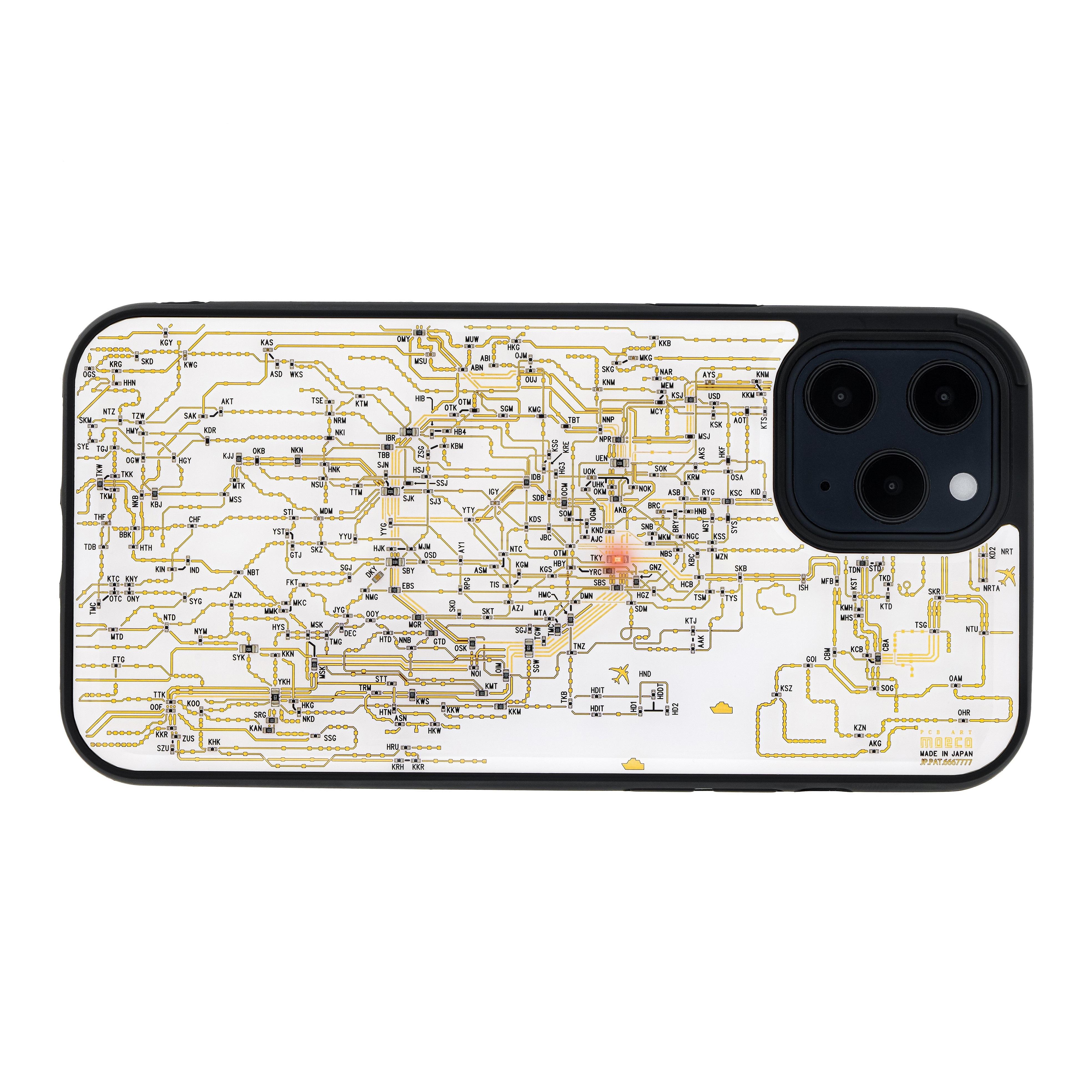 FLASH 東京回路線図 iPhone 12 Pro Max ケース 白【東京回路線図A5クリアファイルをプレゼント】