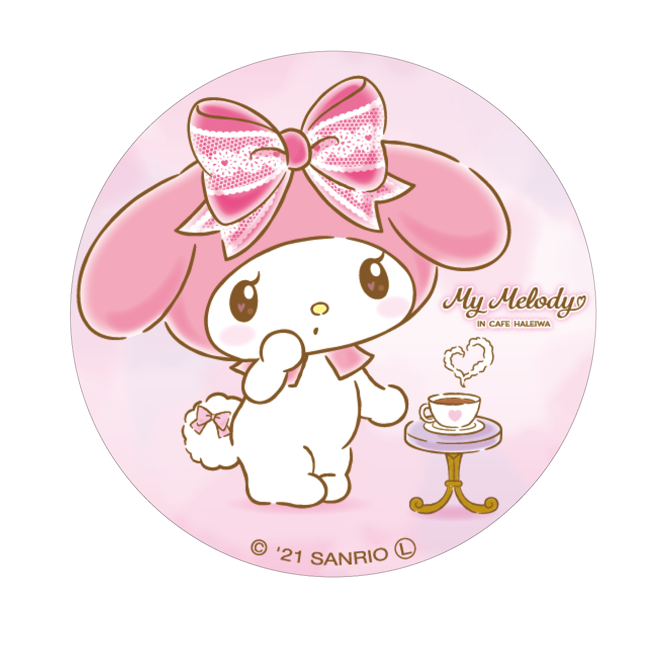 My Melody Cafe 缶バッジ(マイメロディ)