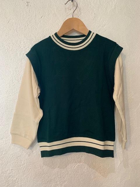 KIDS:ocean&ground:ベストレイヤードTシャツ  90-140㎝
