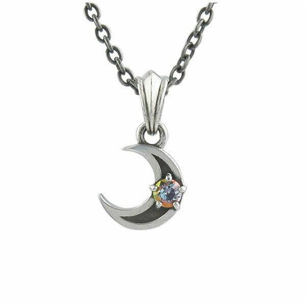 ミスティックムーンチャーム シルバーネックレス AKP0106 Mystic Moon Charm Silver Necklace