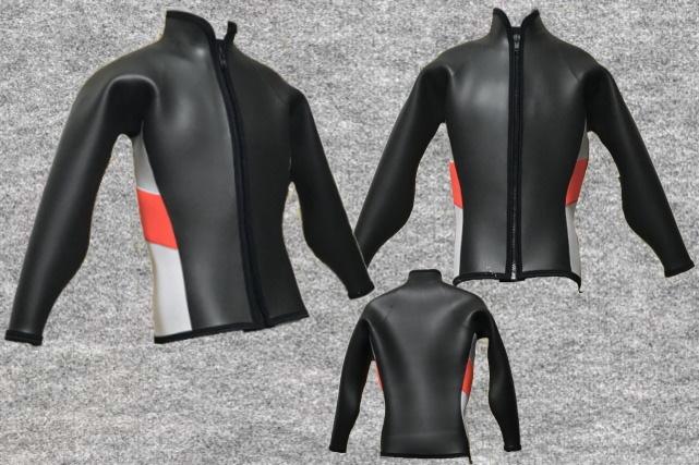 ダイビングフラットスキン3x3mm長袖ジャケット立衿wsm1710FS(フルオーダー料込)