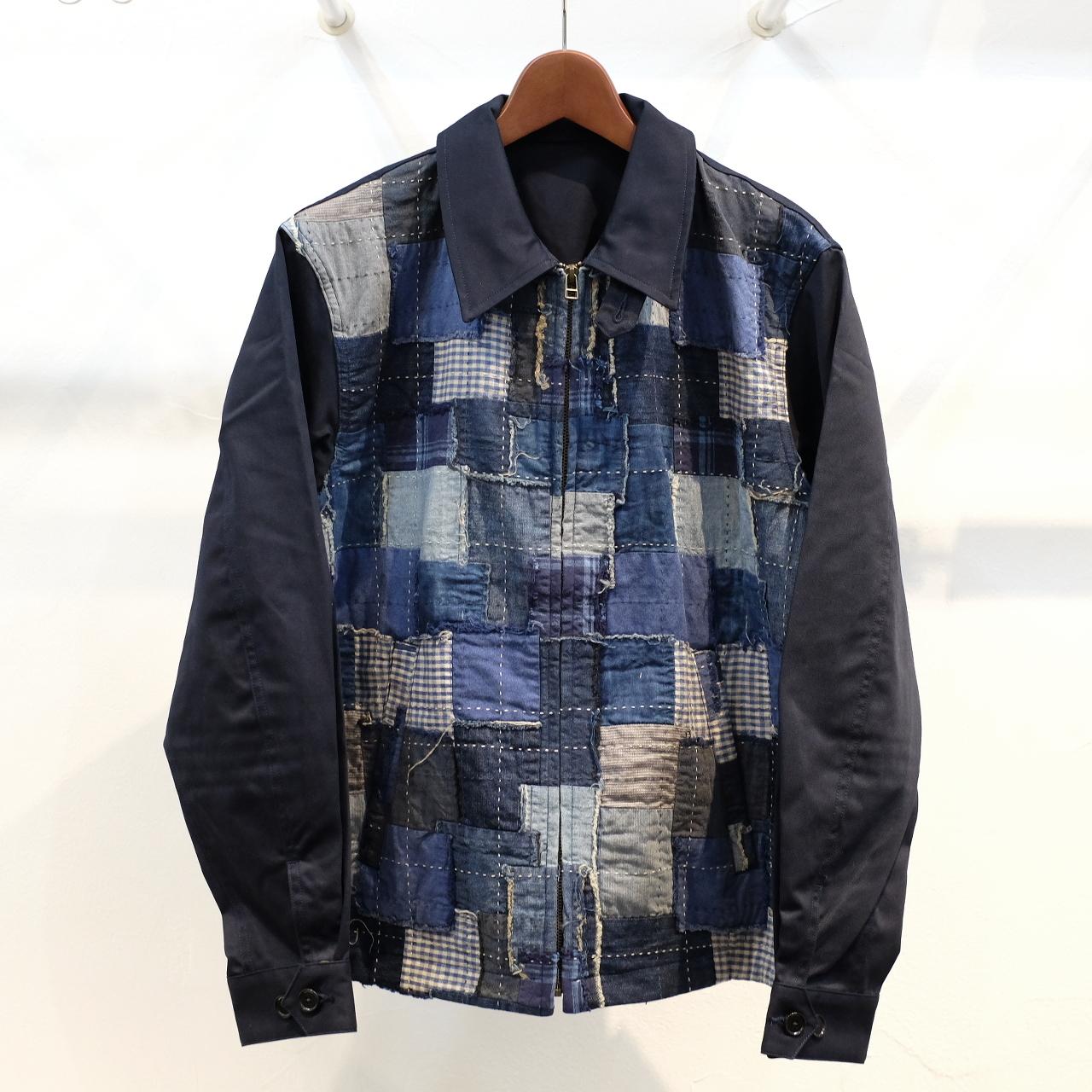KUON(クオン) 藍アップサイクルパネル ワークジャケット ネイビー