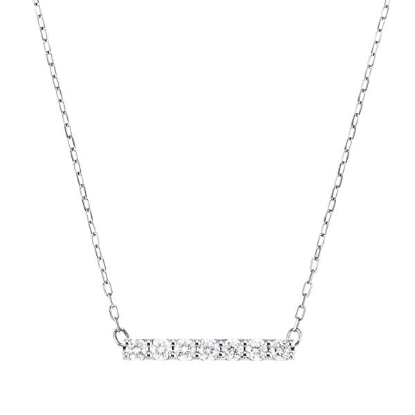 K10WGダイヤモンドネックレス 020201009192
