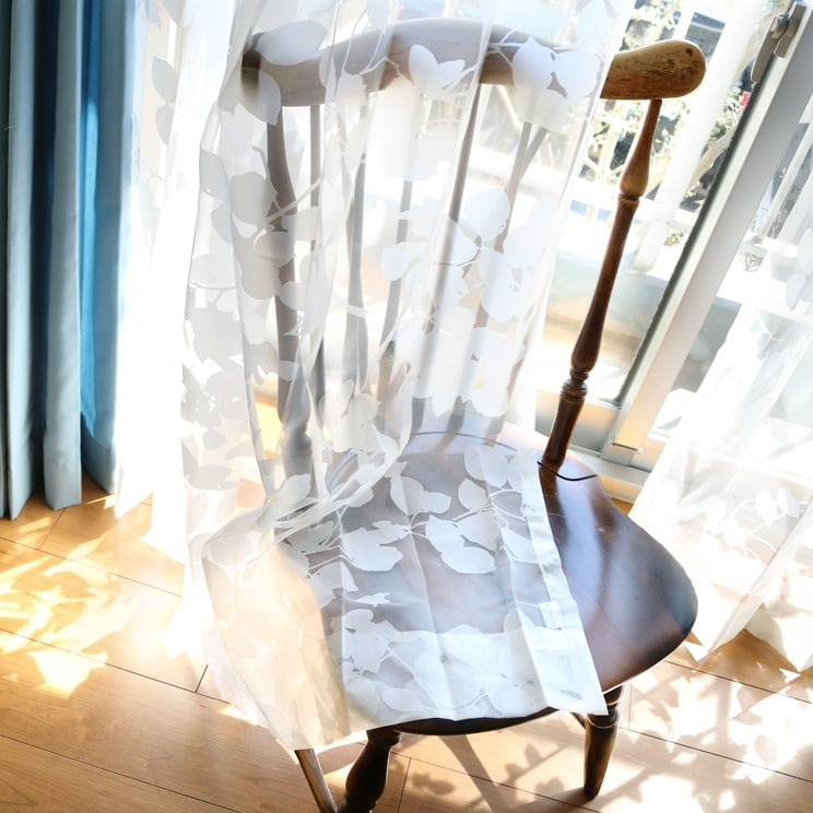 【最短6営業日で出荷】オパールレースカーテン「Dorris ドリス ホワイト」 (幅×丈):100×133cm(2枚組) ac-0083
