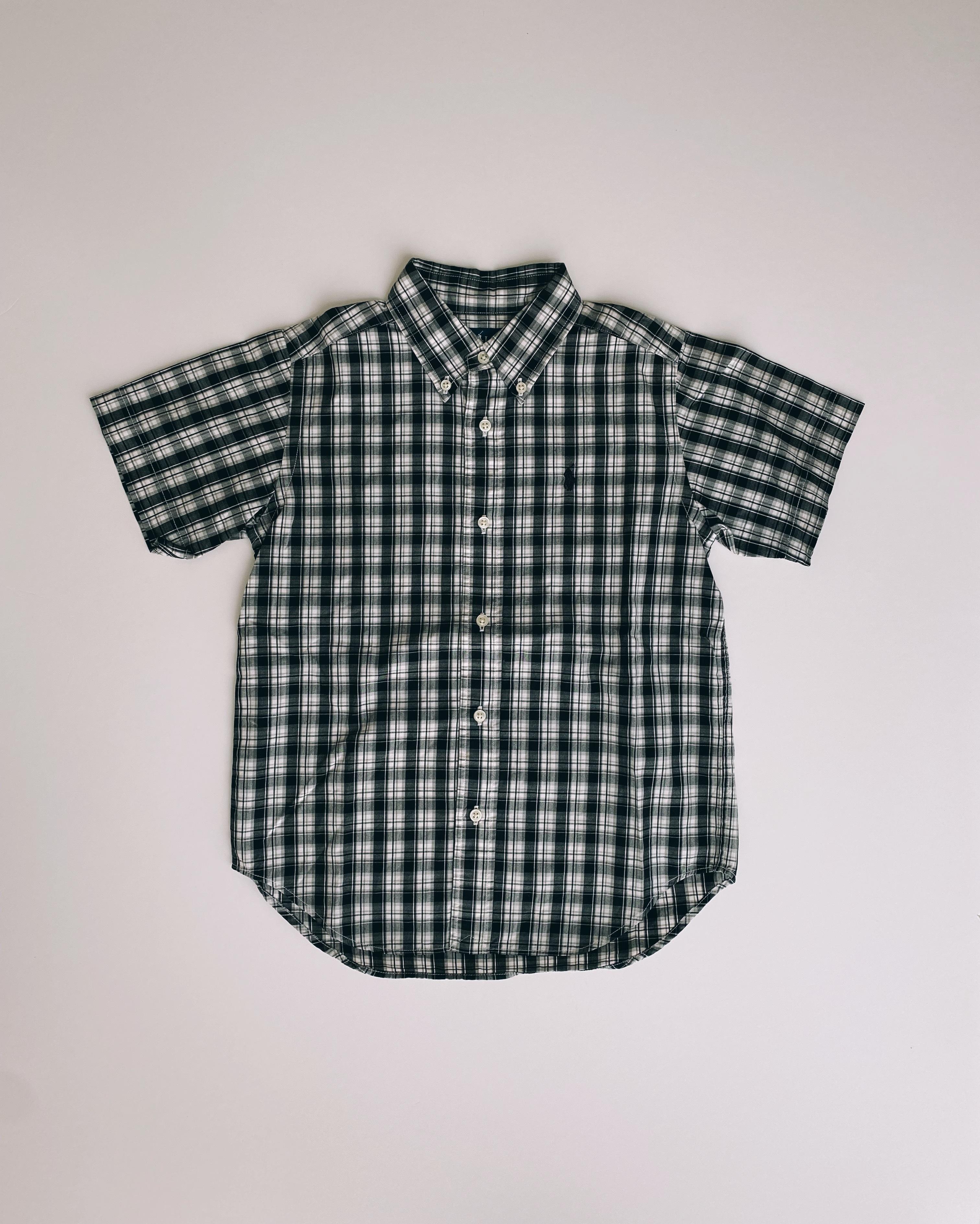 (KD008)120cm Ralph Lauren checked shirt